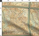 Amsterdam, Landkarte, Vintage, Stoffe - Individuell