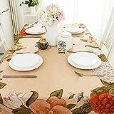 BUUYI Manteles Mesas de comedor Decoración Estilo sencillo floral 140x140cm Boda hotel restaurante Moderno sencillo