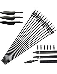 12 pacchetti arco di riciclaggio del complesso delle frecce di vetro tiro con l'arco 31 pollici