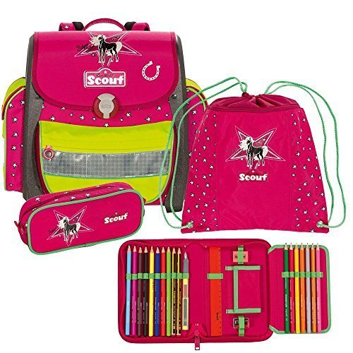 Scout Emotion Schulranzen-Set 4-tlg Buddy Silver Star