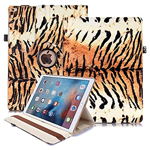 iPad Pro 12.9 Case, RC iPad Pro 360 Rotating Animal Print Smart Case PU Leather Cover Stand for Apple iPad Pro 12.9