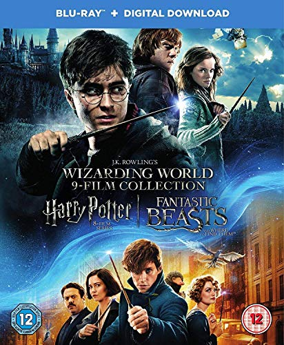 The Wizarding World: The Complete 9 Movies Collection - Harry Potter: The Complete 8 Movies Collection (All Parts 1 to 8 - Year 1 to 7) + Fantastic Beast and Where to Find Them (Blu-ray + Digital Download + UV) (17-Disc Box Set) (Slipcase Packaging + Fully Packaged Import)