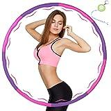 KUYOU Fitnesshoelahoepel voor gewichtsvermindering, band met schuimrubber, instelbare breedte 48-88 cm, verzwaarde hoelahoepe