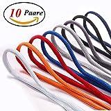10 paires de baskets lacets DemiCercle lacets, chaussures de sport, chaussures de sport 8 couleurs 120 cm, largeur d