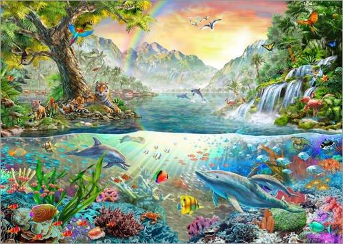 Alubild 80 x 60 cm: Dolphin Utopia von Adrian Chesterman/MGL Licensing -