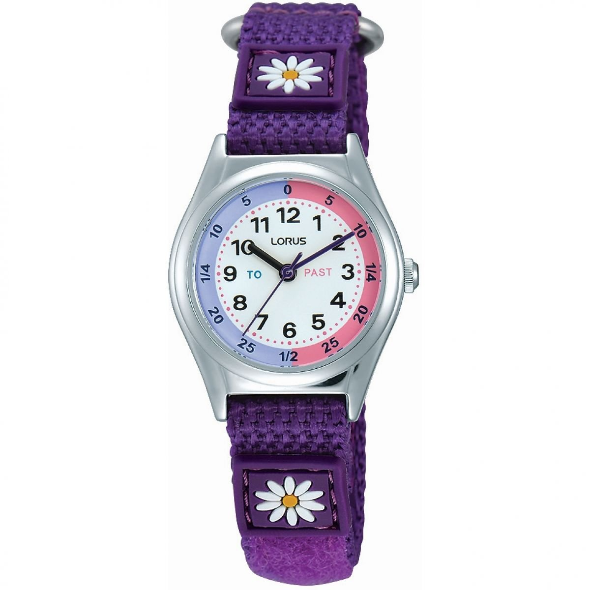 Lorus Girls Analogue Classic Quartz Watch with Nylon Strap RG251KX9
