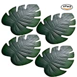 Artificiale foglie di palma, foglie di palma tropicale simulazione pianta tovagliette per festa Hawaiana Luau Decor, 4pcs Big Palm Leaves, 46*37cm