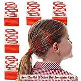 Jelly Head: paquete de 80 piezas individuales, de accesorios rojos para la escuela, para el cabello de las niñas. Paquete mixto de cintas para el cabello a presión y bandas elásticas rojas para que combinen con los uniformes escolares rojos. Contiene 80 piezas.