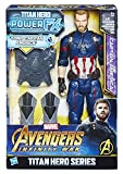 Hasbro Marvel Avengers Infinity War Captain America Titan Hero Power FX, Personaggio 30 cm, Action Figure, E0607103