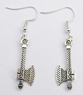Cornwall Art Prints Silver Colour Stiletto Shoe Earrings Silver Plated Hooks 3cm Drop Hand Made