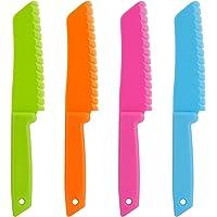 ONUPGO Ensemble de 4 couteaux de cuisine en plastique - Couteau en nylon Chef/Couteaux de cuisine pour enfants, Couteau…