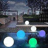 AOKARLIA Led-Lichtkugel Leuchtet Gartenleuchte Kugel Pe Wasserdichter Kunststoff , 6