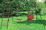 Schaukelgerüst Schaukelgestell Metall Kinderschaukel mit Leiter, Brett und Gondel