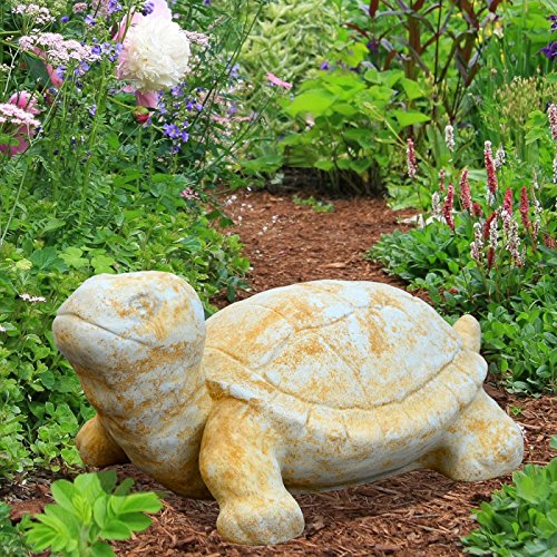Gartentraum Schildkröte Steinfigur - Egon, Weiß