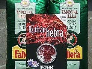 2kg Riso speciale per paella la Fallera + 0,375gr. Zafferano Hacendado