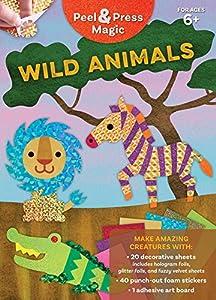 Peel & Press Magic: Wild Animals (Gakken Peel & Press) Idioma Inglés