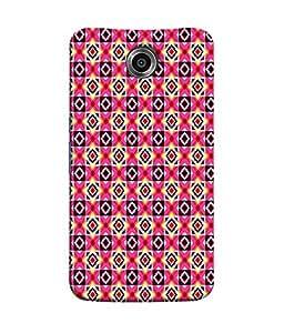 PrintVisa Designer Back Case Cover for Motorola Nexus 6 :: Motorola Nexus X :: Motorola Moto X Pro :: Google Nexus 6 (Blocks Square Diamond Shaped Design)