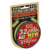 WFT KG STRONG 150m 0,08mm 10kg, geflochtene Schnur, Meeresschnur, Angelschnur, Geflechtschnur, Farbe:Gelb