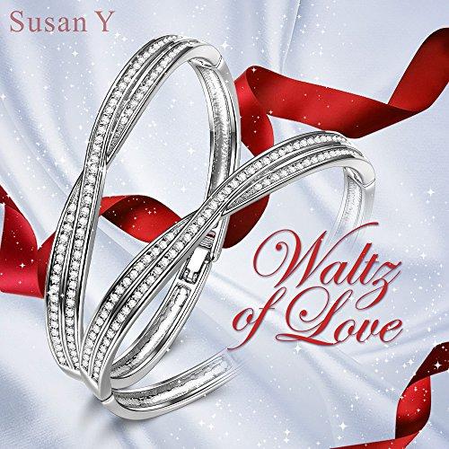 43970c39aa71 Susan Y Y Cruce Pulsera Mujer con Cristales de Swarovski Regalos Cumpleanos.