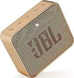 JBL GO 2 kleine Musikbox in Champagner – Wasserfester, portabler Bluetooth-Lautsprecher mit Freisprechfunktion – Bis zu 5 Stunden Musikgenuss mit nur einer Akku-Ladung