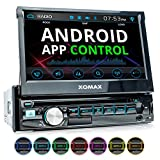 XOMAX XM-D710 Autoradio mit Android App Control, 18 cm (7 Zoll) Touchscreen...