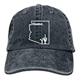 Arizona Desert Cactus Home Unisex Adjustable Cotton Denim Hat Washed Retro Gym Hat Cap Hat