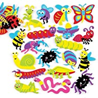 Bake Ross Insect Foam Stickers (Pack of 120) For Kids Arts, Crafts and Displays