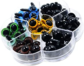 MagiDeal 56 Pieces 12mm Plastic Colorful Safety Eyes Washers For Doll Animal Stuffed Toys