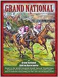 Das Grand National in Aintree run vintage mini Metall unterzeichnen 8
