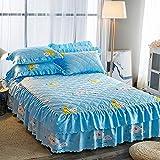 huyiming Verwendet für koreanische Version des Bettes Rock Einteilige Dicke Bettdecke 1,5 m 1,8 m...