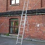 TB Davies 1300–311LICHT Duty 2,3m dreifach Aluminium Combi 3Weg, 3-Wege-Verlängerung Leiter, Silber, 2,3m