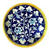 #8: Aurea Blue Pottery Decorative Wall Plate (6