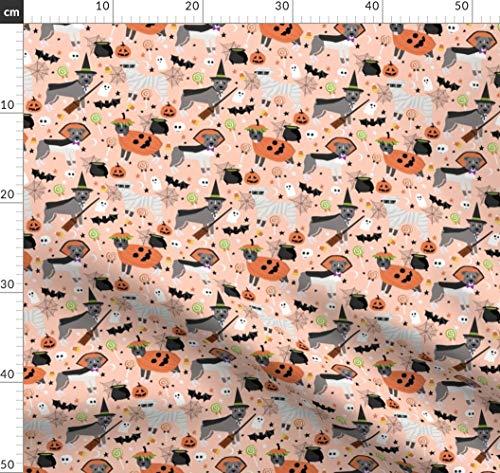 Pitbull, Hund, Hunde, Halloween, Herbst, Haustiere, Hunderasse Stoffe - Individuell Bedruckt von Spoonflower - Design von Petfriendly Gedruckt auf Fleece