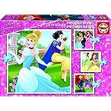 Princesas Disney - Puzzles progresivos de 12, 16, 20 y 25 piezas (Educa Borrás 17166)