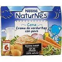 NESTLÉ Purés Pijama, tarrito de puré de verduras y carne, variedad Crema de verduritas con Pavo, para bebés a partir de 6 meses - Paquete de 6 x 2 tarritos de 200 g