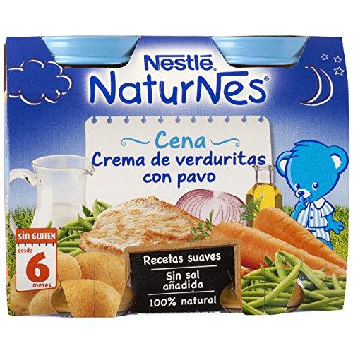 Nestlé Naturnes - Cena Crema de Verduritas con Pavo - A Partir de 6 Meses - Pack de 3 x 400 g