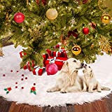 Tencoz Tree Skirt 48inch White Snowman Ornaments Decorations for Pets Indoor Outdoor Home Holiday Party Decor