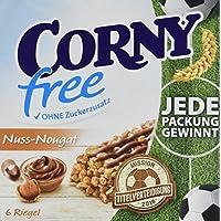 CORNY free Nuss-Nougat, Müsliriegel OHNE Zuckerzusatz, 120g Schachtel mit 6 Riegeln