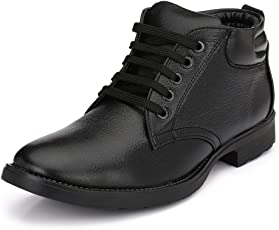 Mactree Men's PU Mid Top Formal Lace-up Shoes