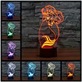 La Sirenita Lámpara Led 3D