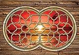 Tapeto Fototapete - Holz Wand Sonnenuntergang Strand See - Vlies 254 x 184 cm (Breite x Höhe) - Wandbild Strand und Küste