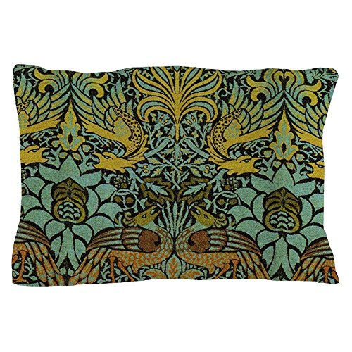 William Cotton Tapestry (Peacock and Dragon William Morris Tapestry Design - Standard Size Pillow Case, 20