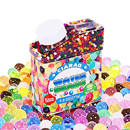 QMAY coloré Perles de Cristal, DE l'eau Gel Perles 311,8 Gram pour Orbeez Spa, vases, Plantes et...
