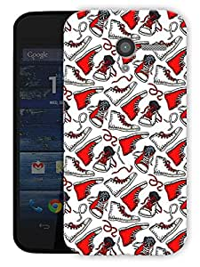 """Humor Gang Converse My Life - Red Printed Designer Mobile Back Cover For """"Motorola Moto X"""" (3D, Matte Finish, Premium Quality, Protective Snap On Slim Hard Phone Case, Multi Color)"""