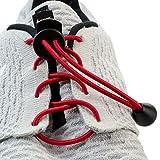 Flexy Lock Lace Schnell-Schnürsystem aus Polyester in rot in vielen Farben erhältlich auch geeignet als Triathlon-Schnürsystem, ideal für Kinder, Senioren oder körperlich eingeschränkte Personen