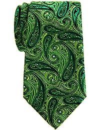 "Retreez Elegant Paisley Art Pattern Woven Microfiber 3.15"" Men's Tie"