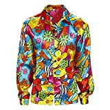 Widmann 73972 Erwachsenenkostüm Flower Power Hemd, Mehrfarbig, M