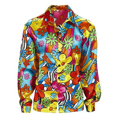 Widmann - Erwachsenenkostüm Flower Power Hemd