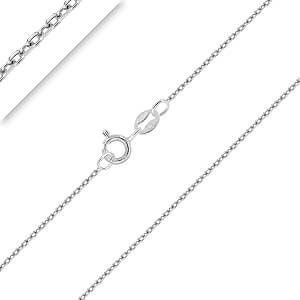 PLANETYS - Chaîne Argent 925/1000 Rhodié Maille Forçat Diamantée 1 mm 40-45-50-55-60-65-70 cm