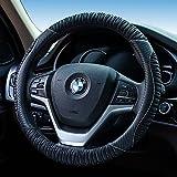 HCMAX Microfibra Suave Funda para Volante Cubierta del Volante del Vehículo Confortable Protector del Volante del coche Universal Diámetro 38cm (15')